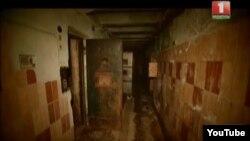 Стары спэцкалідор у Пішчалаўскім замку (калідор сьмяротніка). Фота з тэлесюжэту каналу «Беларусь-1» «Гісторыя адной турмы»