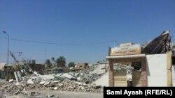 Pamje pas shkatërrimit të një xhamie në provincën Dijala në Irak