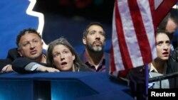 Сторонники кандидата в президенты США от Демократической партии Хиллари Клинтон. Нью-Йорк, 8 ноября 2016 года.
