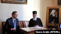 Aleksandar Vučić i patrijarh Irinej