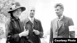 Елена Отт-Скоропадская со вторым мужем Людвигом Оттом. Снимок конца 1950-х годов