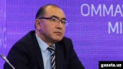 Асаджон Хаджаев в бытность руководителем пресс-службы президента Узбекистана.