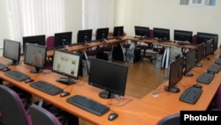 Armenia - A computer room at the State Economics University in Yerevan, 13Apr2012.