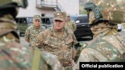 Armenia -- General Artak Davtian inspects Armenian troops deployed in Tavush province.