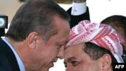 رئيس الوزراء التركي اردوغان في أول زيارة له الى أربيل 29 في اذار 2011