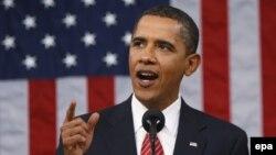 ԱՄՆ-ի նախագահ Բարաք Օբաման ամենամյա ուղերձով է հանդես գալիս Կոնգրեսի երկու պալատների համատեղ նիստում, արխիվ