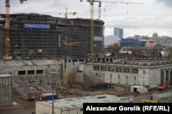 """Строительство """"Крестовского"""" в октябре 2013 года"""