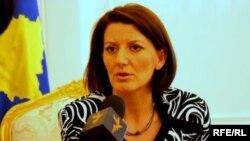Kosovo's President Atifete Jahjaga in conversation with RFE/RL's Kosovo Unit
