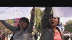 Очередная акция протеста в поддержку Жовтиса