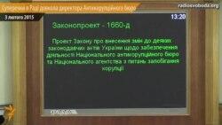 Суперечки у Раді довкола директора Антикорупційного бюро