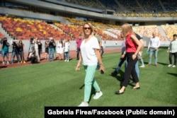 Gabriela Firea, într-o vizită pe Național Arena
