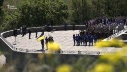 «Безвіз» відзначили підняттям прапора ЄС на найвищому флагштоці України (відео)