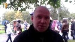 Один из лидеров протестующих Павел Ксенофонтов