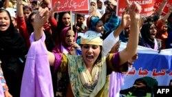 Protest povodom Dana žena