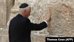 Вице-президент США Майк Пенс у Стены Плача. Иерусалим, 23 января 2018 года.