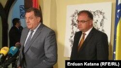 Milorad Dodik i Mladen Ivanić u Banjaluci 2. juna 2016.