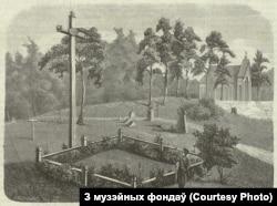 Магіла Ўладзіслава Сыракомлі на віленскіх могілках Росы. Аўтар Ігнацы Хелміцкі, 1869 год