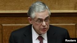 Kryeministri grek, Lukas Papdemos.