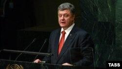 Петро Порошенко в Нью Йорку, 27 вересня 2015 року