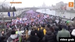 Russia -- March in the memory of Boris Nemtsov in Moscow, March 1, 2014