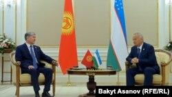 Алмазбек Атамбаев менен Ислам Каримов. Ташкент