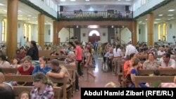 نازحون في كنيسة مار يوسف في عنكاوا