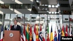 انتونی بلینکن، وزیر خارجه امریکا در نشست وزیران خارجه ناتو