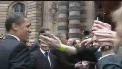 Presidents Obama, Sarkozy in Strasbourg