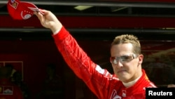 Then-Formula One world champion driver Michael Schumacher of Germany in a 2004 photo