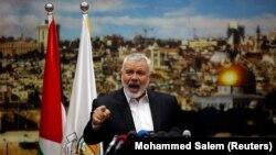 Лидер палестинской радикальной группировки ХАМАС Исмаил Хания.