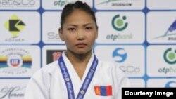 Дзюдоистка из Монголии Отгонцэцэг Галбадрах, получившая гражданство Казахстана.
