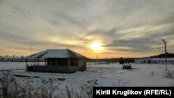 Пункт охраны перед фермой