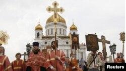 Ռուսաստան - Ծիսակատարություն Մոսկվայի Քրիստոս Ամենափրկիչ տաճարում, արխիվ