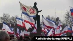 Мітинг на підтримку референдуму і приєднання Криму до Росії
