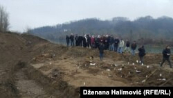 BiH, Srebrenica, Kozluk, the excumation of the victims of the genocide 13dec2015