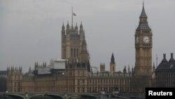 Флаг над зданием парламента Великобритании. Лондон, 23 марта 2017 года.