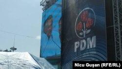 Vladimir Plahotniuc, la mitingul PD din Chișinău, 9 iunie 2019