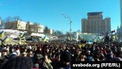 Киевский Майдан в конце 2013 года