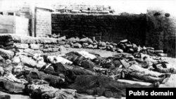 Трупы жертв событий марта 1918 года в Баку