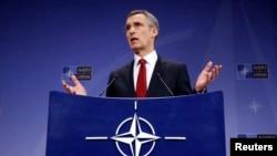 Глава НАТО Йенс Столтенберг (Брюссель, 5 февраля 2015 года)