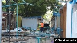 Знесення ринку на вул. Козлова в Сімферополі
