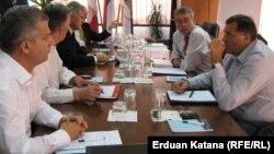 Lideri SBB-a, SDP-a, HDZ-a BiH, SDS-a i SNSD-a na jednom od susreta, 2012.