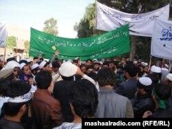 اعتراض به امضای موافقتنامه همکاری دراز مدت با آمریکا در نشست «لویه جرگه»- جلال آباد