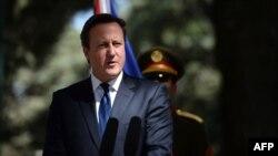 David Cameron në Kabul, 3 tetor 2014.