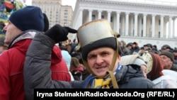 """Протесты против """"диктаторских"""" законов в Киеве. 19 января 2014 года."""