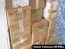 Коробки с лекарствами, которые увидели правозащитники в ЛПУ-3