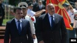 Премиерите на Македонија и на Бугарија Зоран Заев и Бојко Борисов, Скопје, 01.08.2017.