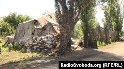 Донбасс: территория одной из баз добробата ДУК «Правый сектор»
