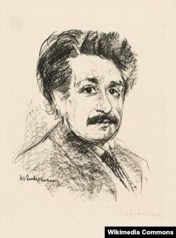 Альберт Эйнштейн. Литография Макса Либермана. 1925