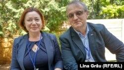 Ludmila Andronic cu Petru Macovei la Kiev